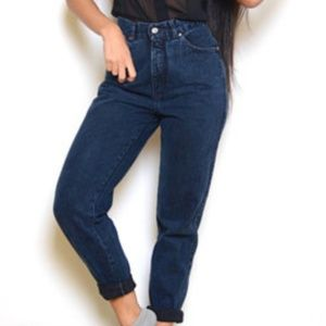 Vintage Levi's High Rise Pleated Tapered Let Jeans